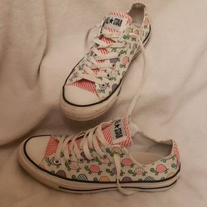 Converse All Star Turtle Sneakers Size 8 CUTE! 🐢